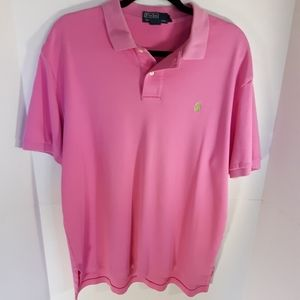 Polo Ralph Lauren pink polo.  Size large